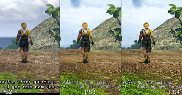 Final Fantasy X HD PS4 Graphics Vs PS3 PS2 Tested