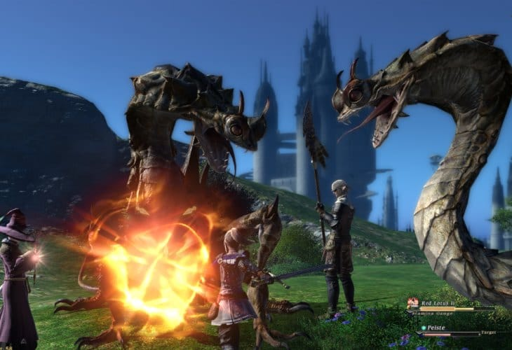 PS4 Final Fantasy XIV equals high PC settings