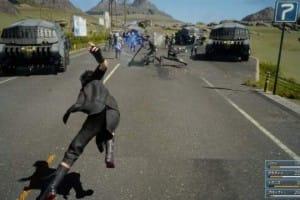 Final Fantasy XV in-game combat graphics look incredible
