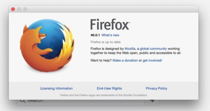 Mozilla Firefox 46.0.2 update fix needed for 46.0.1 problems