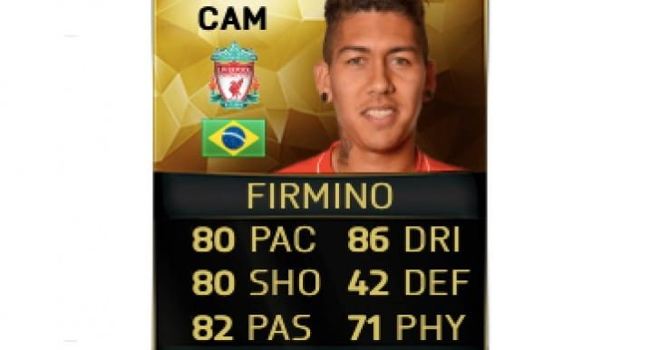 Firmino ST in-form card for FIFA 16 TOTW 20