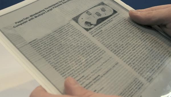 Flexible tablet arrives with PaperTab