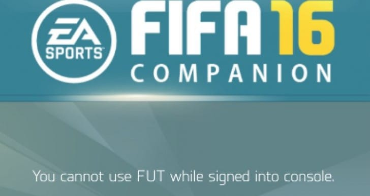 FIFA 16 Ultimate Team signed into another device fix