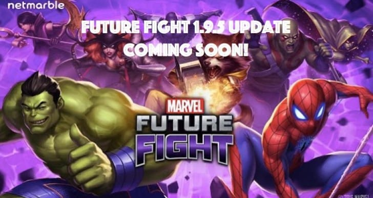 Marvel Future Fight 1.9.5 patch notes with 3 new characters