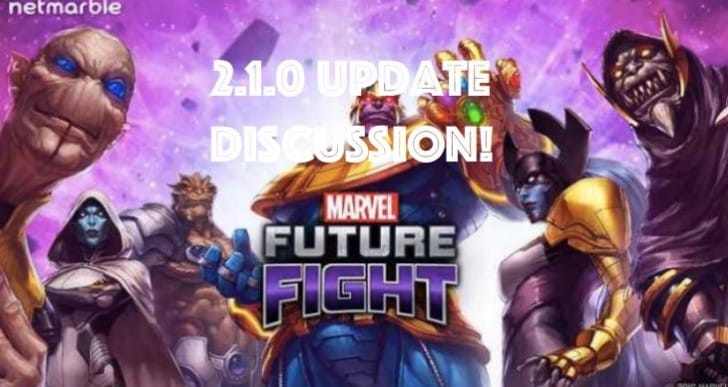 Marvel Future Fight 2.1.0 update notes so far