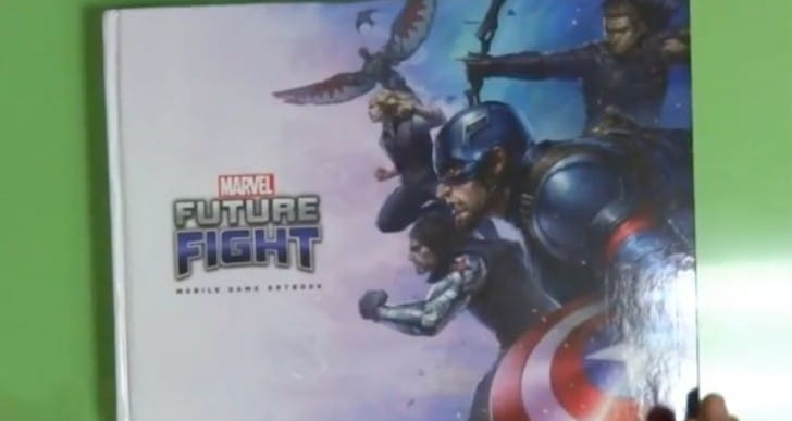 Marvel Future Fight Art Book card opening, unboxed