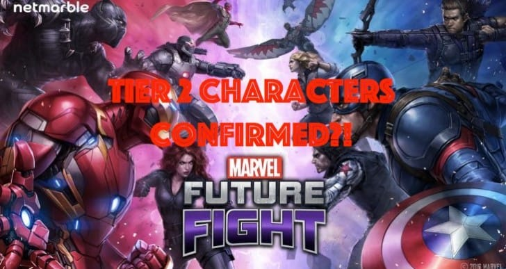 Marvel Future Fight Tier 2 characters confirmed