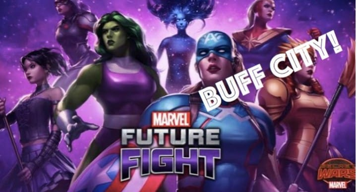 New Marvel Future Fight update a ticket to buff city