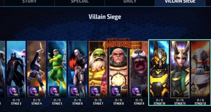 Marvel Future Fight 1.9 Villain Siege tips for Loki