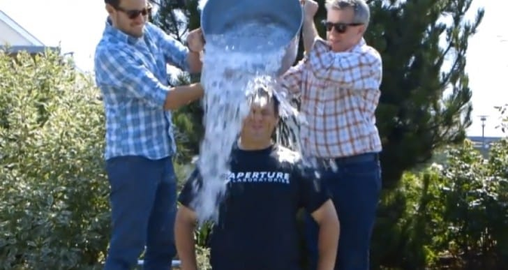 Gabe Newell Ice bucket challenge from Microsoft Exec