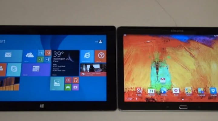 Samsung Galaxy Note 10.1 2014 Vs Microsoft Surface 2 review