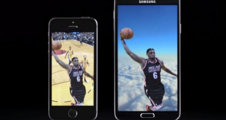 Galaxy Note 3 Vs iPhone 5S Slam dunk