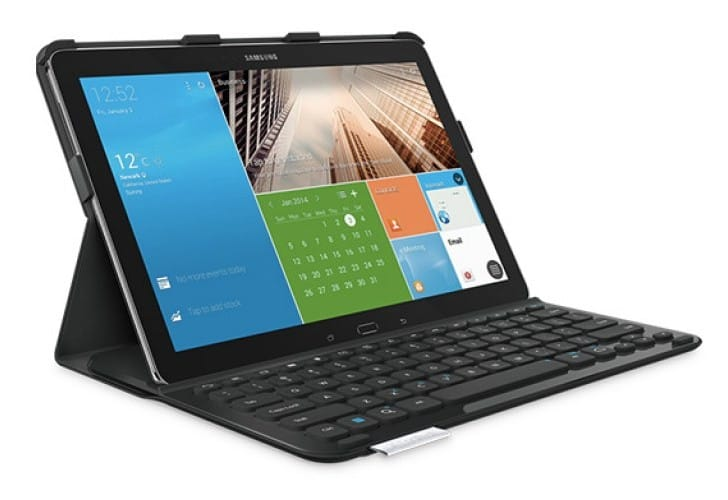 Galaxy Note Pro Logitech keyboard cover preview