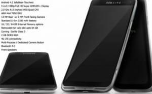 Samsung Galaxy S4 specs visual teases metal