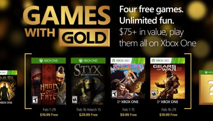 Xbox Live's Games with Gold for February includes Gears of War 2