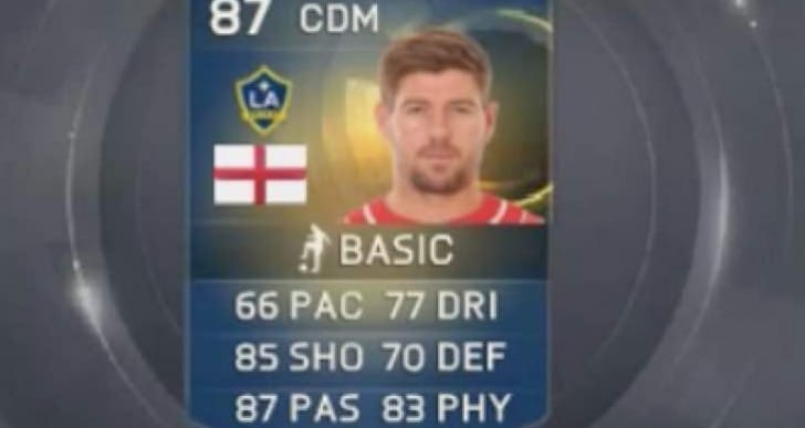 Gerrard in LA Galaxy FIFA 15 TOTS MLS All Stars