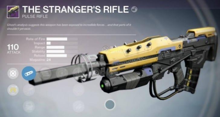 Get Destiny Legendary Stranger's Rifle again from quest