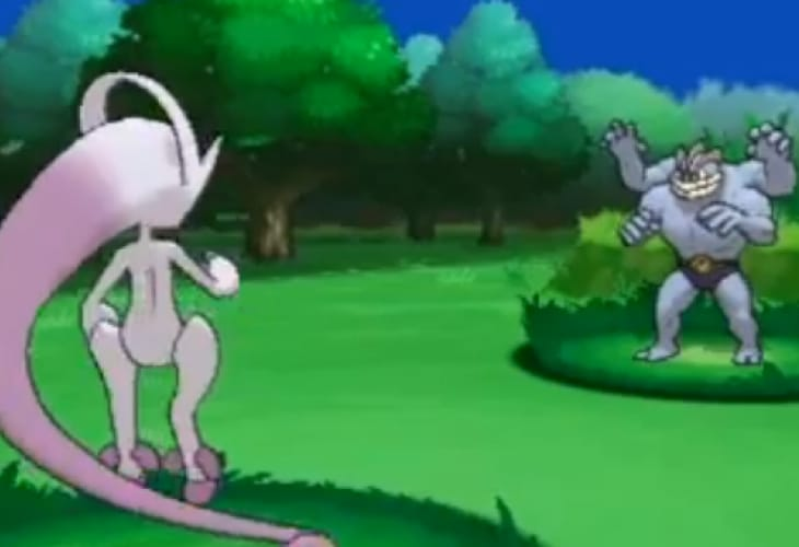 Pokemon X and Y gameplay shows Godspeed Mewtwo moves