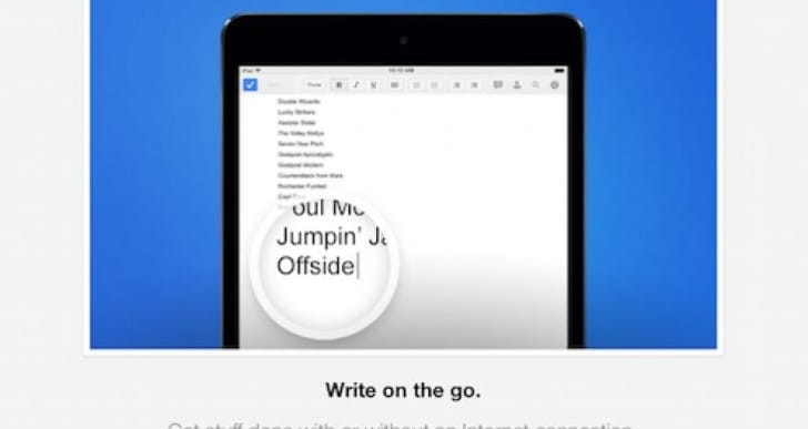Google Docs app for offline editing
