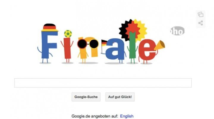 Google Finale celebrates Germany Vs Brazil