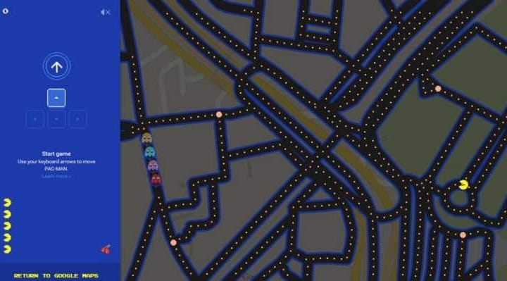 Best Google Maps PacMan locations