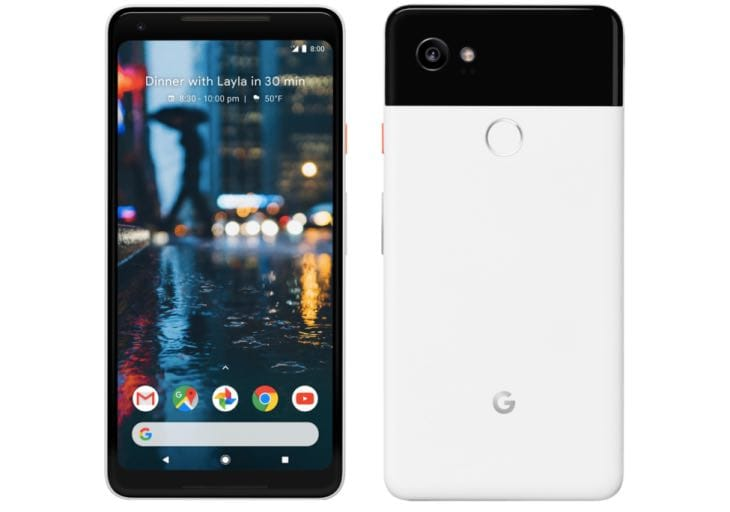 Google Pixel 2 XL front preview from last minute leak