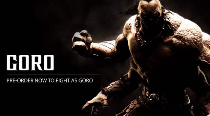 GAME charging extra for Mortal Kombat X Goro pre-order