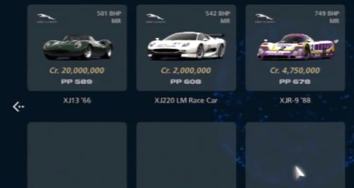 Gran Turismo 6 car price horror with Jaguar XJ13