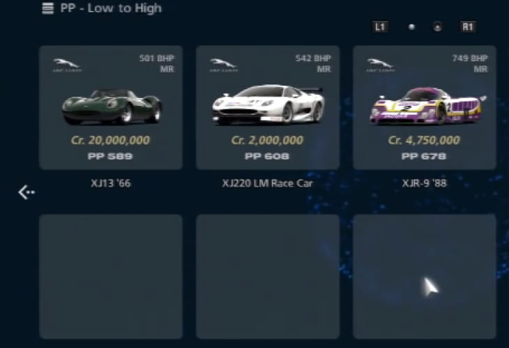 Gran Turismo 6 car price horror with Jaguar XJ13