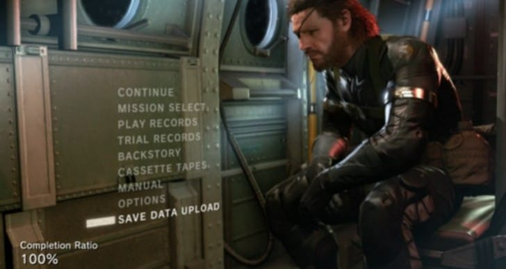 MGS V Ground Zeroes 1.04 update with Phantom Pain 1.01