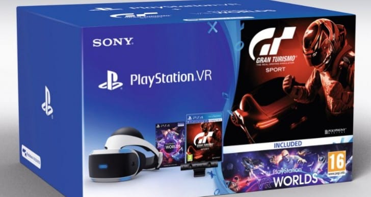 PlayStation VR Bundle best price with free GT Sport
