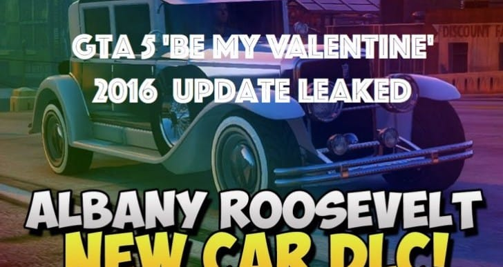 GTA 5 Valentine's Day 2016 DLC update leaked with new car