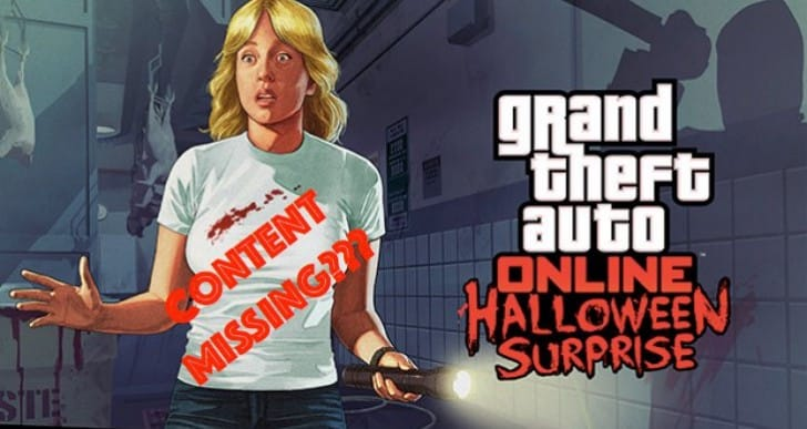 GTA 5 Halloween DLC Flashlight, Masks missing