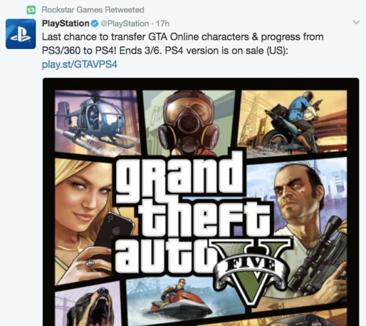 GTA Online character transfer deadline to PS4, Xbox One