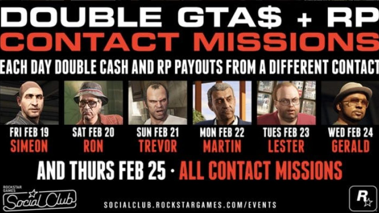 GTA Online event today for Double Money, RP – Product
