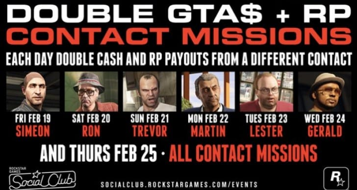 GTA Online event today for Double Money, RP