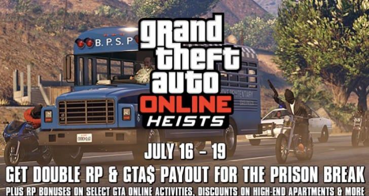 GTA Online Prison Break Heist 2x GTA$ live