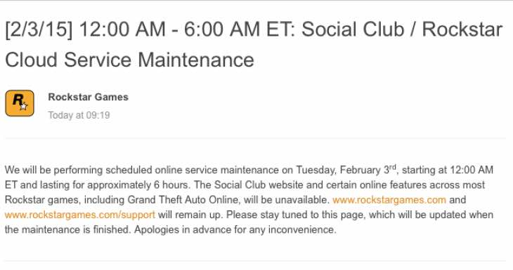 gta-online-server-maintenance
