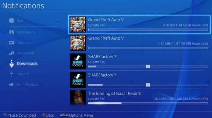 GTA V 1.18 update live on PS3, 1.01 Day One on PS4