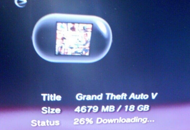 GTA V Download Problems On PS3