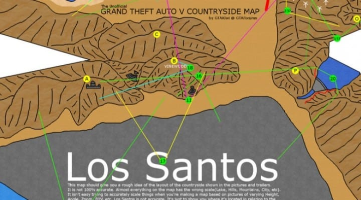 GTA V full map visualized from scratch