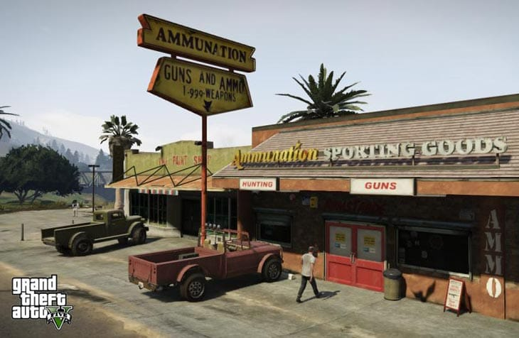 GTA 5 guns and ammo store