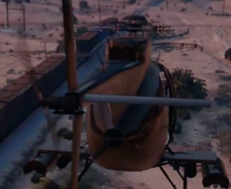 New GTA V Heists Valkyrie helicopter teased