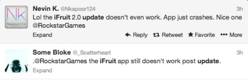 Still some issues with iFruit after the new update..