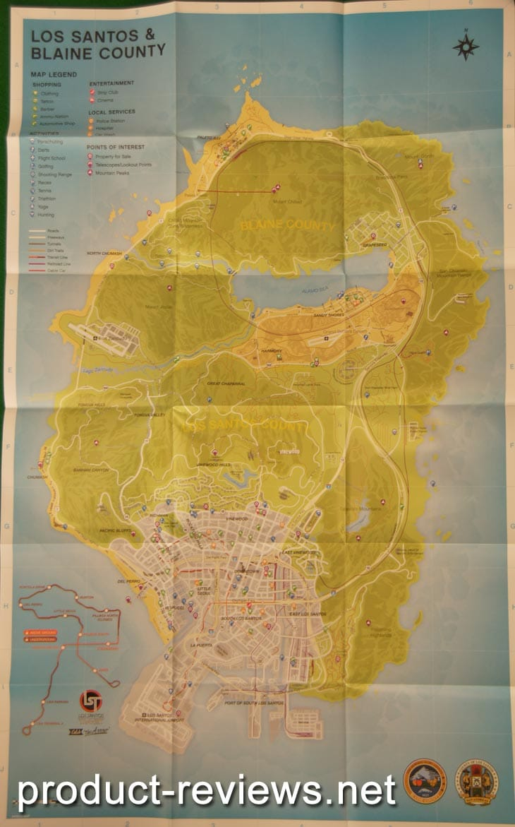 The Grand Theft Auto 5 map is massive