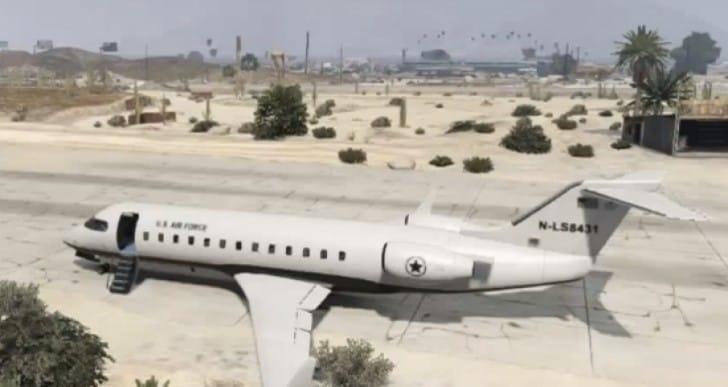 GTA V Buckingham 16-seat Mil-Jet gameplay