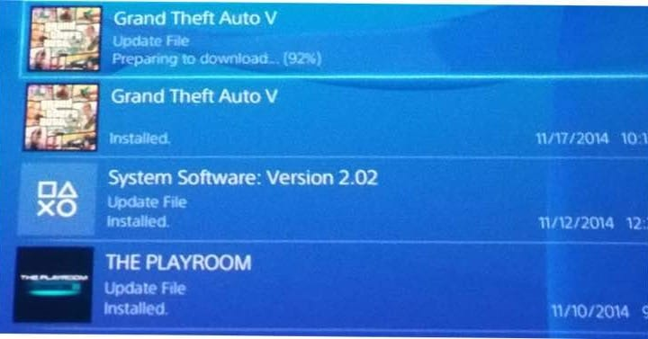 GTA V 1.04 PS4 update live with mystery notes