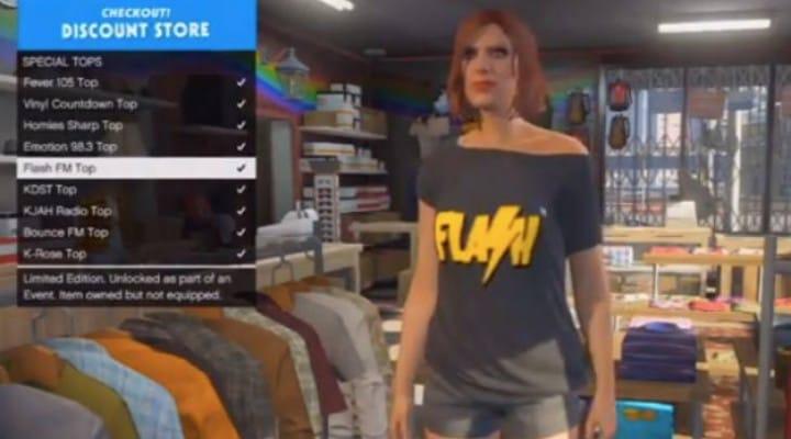 GTA V DLC T-Shirts unlocked before update