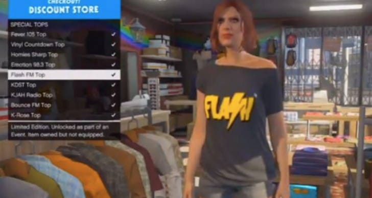 GTA V DLC T-Shirts unlocked before update