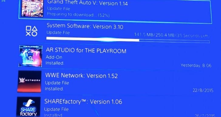 PS4 3.10 firmware live with GTA V 1.14 update